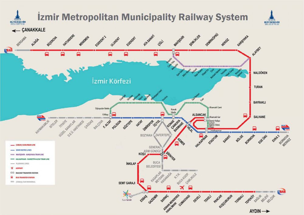 Izmir Subway Map.Signaling And Safety Systems For Izmir Metro Capacity Increase
